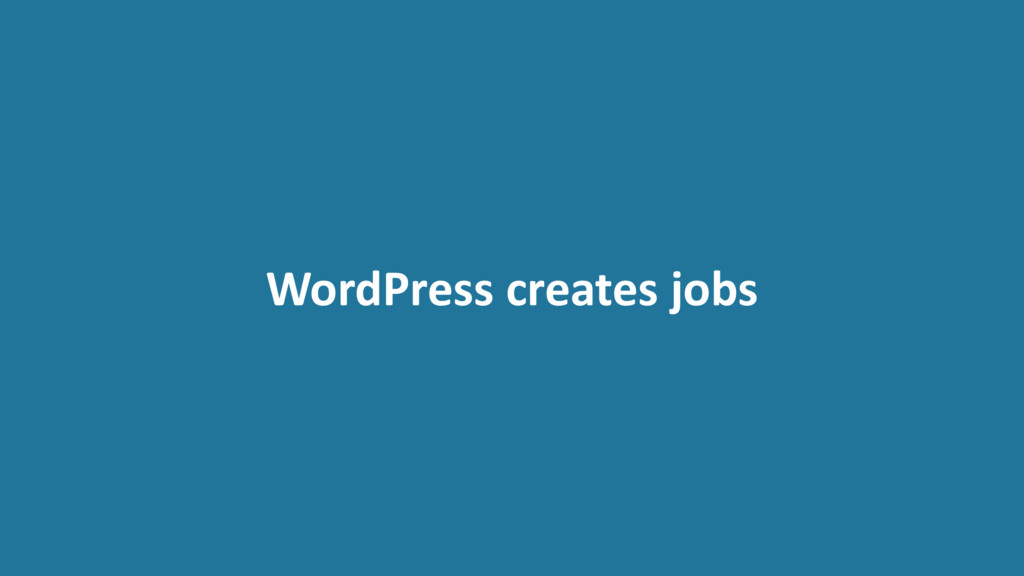 WordPress creates jobs