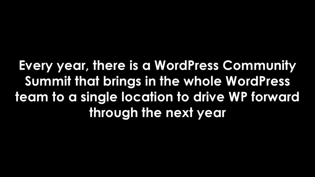 Every year, there is a WordPress Community Summ...