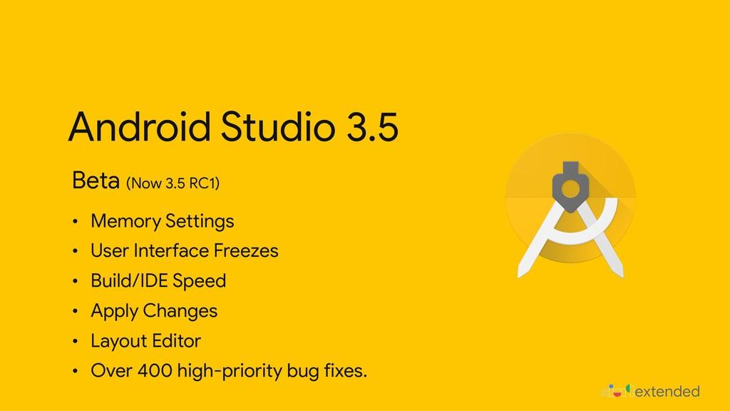 Android Studio 3.5 Beta (Now 3.5 RC1) • Memory ...