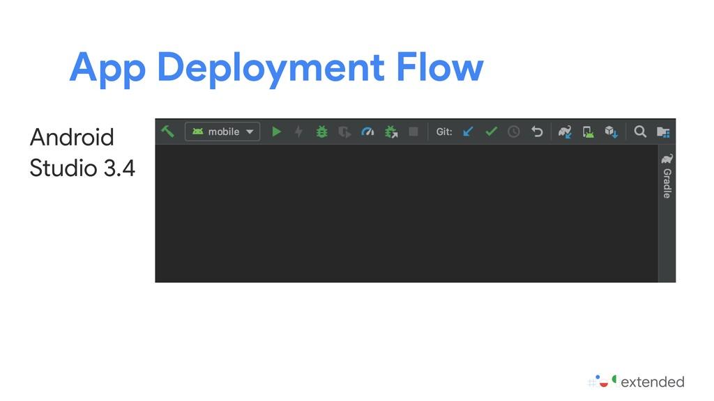 App Deployment Flow Android Studio 3.4