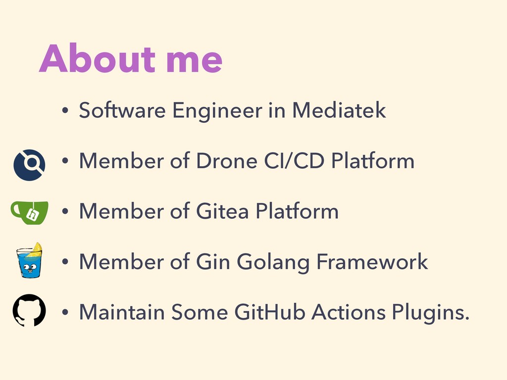 About me • Software Engineer in Mediatek • Memb...