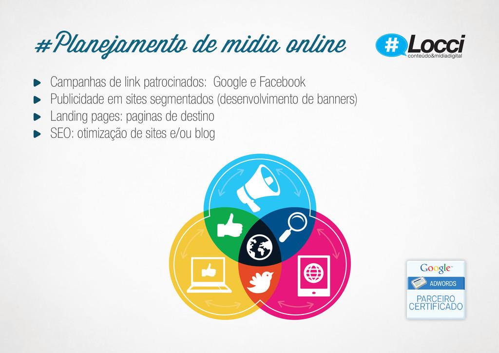 Campanhas de link patrocinados: Google e Facebo...