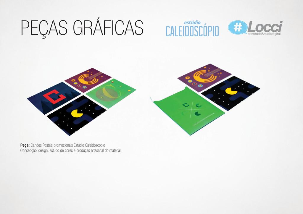 PEÇAS GRÁFICAS Peça: Cartões Postais promociona...