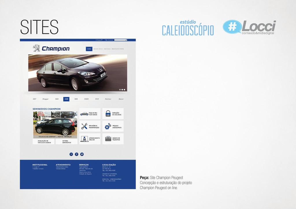 SITES Peça: Site Champion Peugeot Concepção e e...