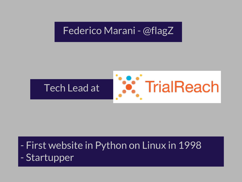 - First website in Python on Linux in 1998 - St...