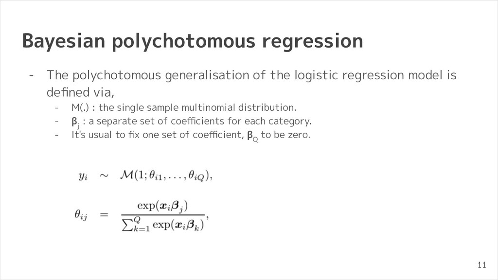 Bayesian polychotomous regression - The polycho...