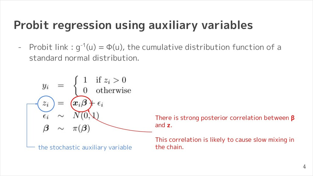 Probit regression using auxiliary variables - P...