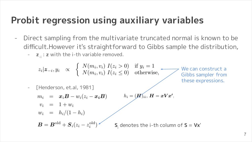 Probit regression using auxiliary variables - D...