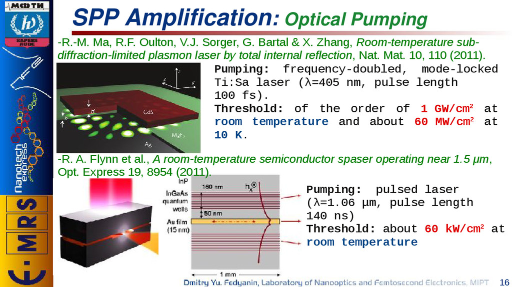 16 SPP Amplification: Optical Pumping -R.-M. Ma...