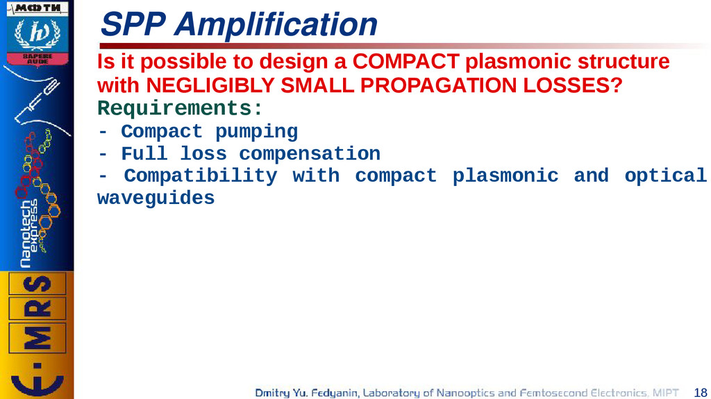 18 SPP Amplification Is it possible to design a...