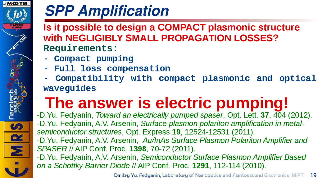 19 SPP Amplification The answer is electric pum...