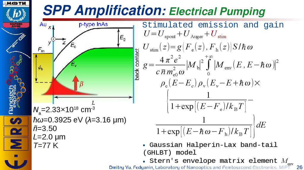 26 SPP Amplification: Electrical Pumping Stimul...