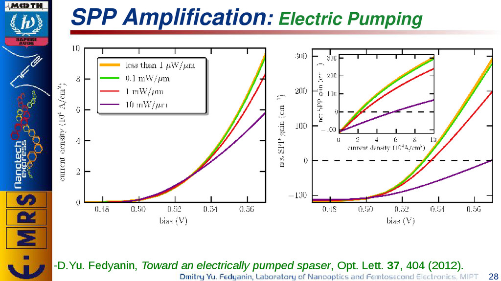 28 SPP Amplification: Electric Pumping -D.Yu. F...