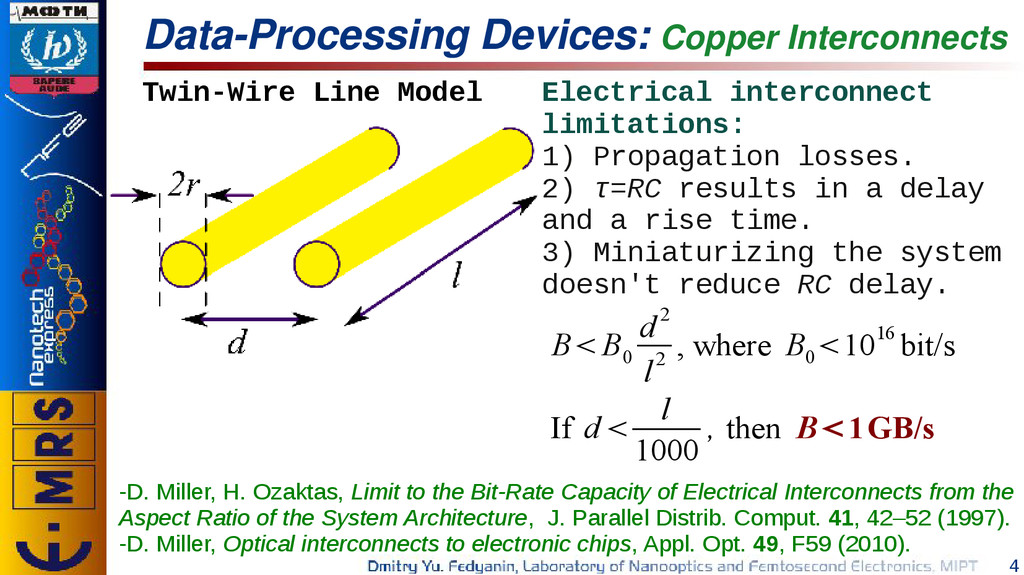 4 Data-Processing Devices: Copper Interconnects...