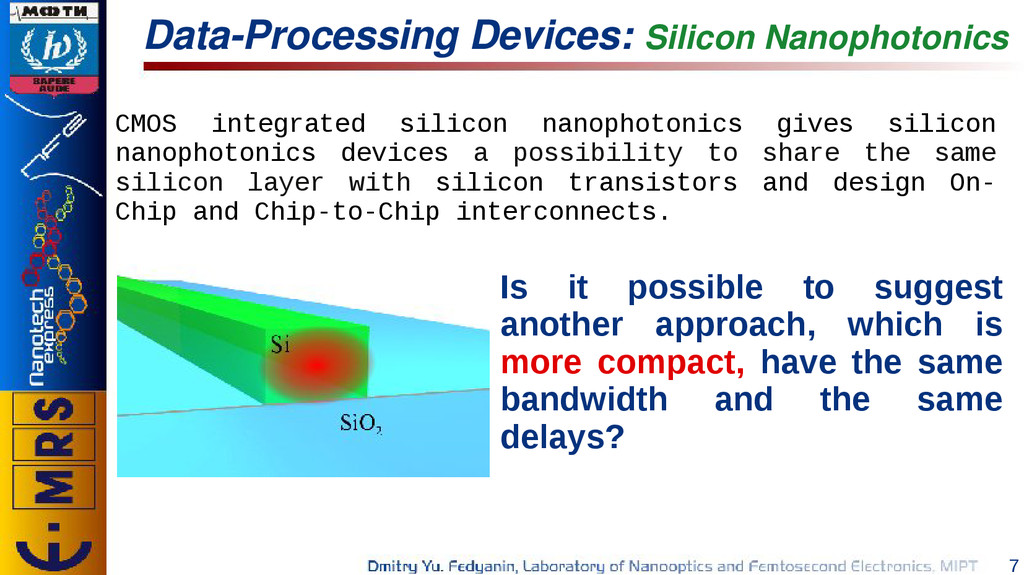 7 Data-Processing Devices: Silicon Nanophotonic...