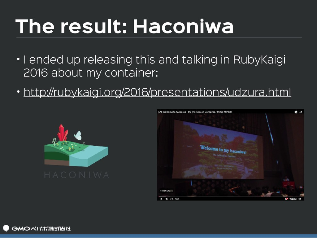 The result: Haconiwa • I ended up releasing thi...