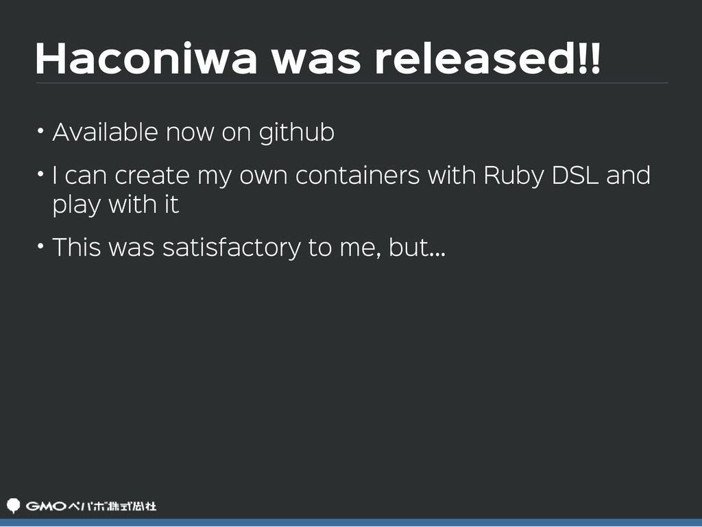 Haconiwa was released!! • Available now on gith...