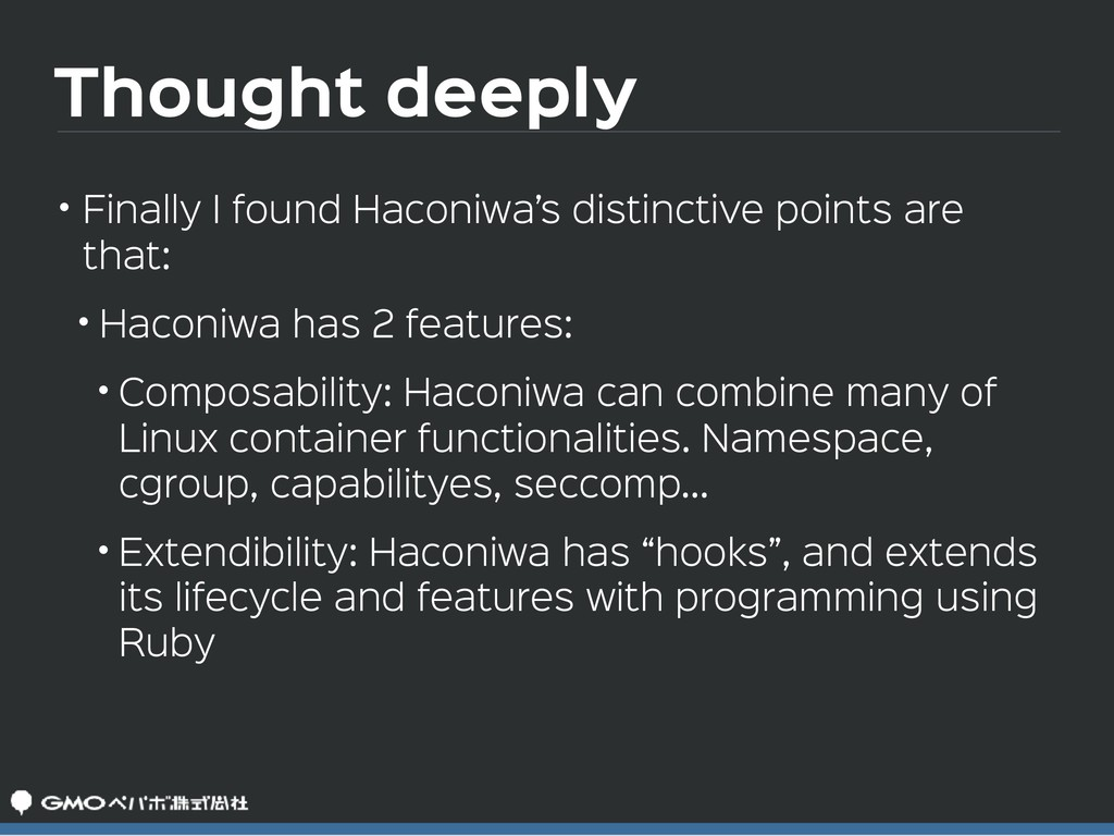 Thought deeply • Finally I found Haconiwa's dis...