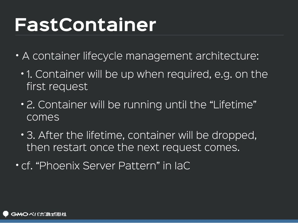 FastContainer • A container lifecycle managemen...