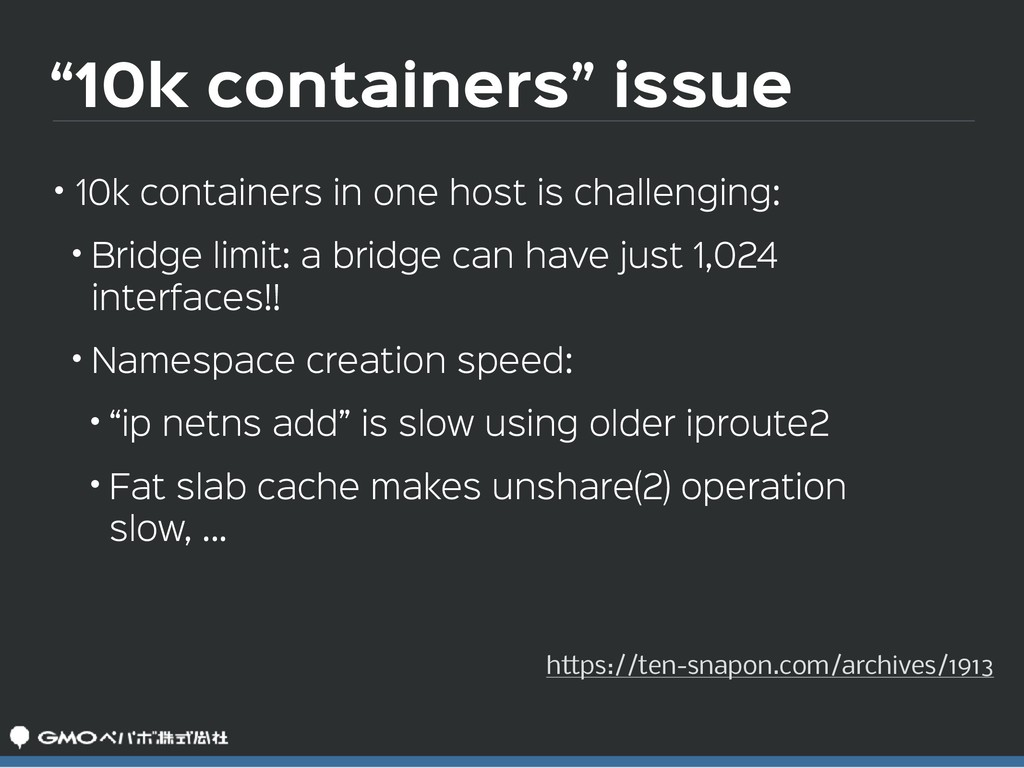 """""""10k containers"""" issue • 10k containers in one ..."""