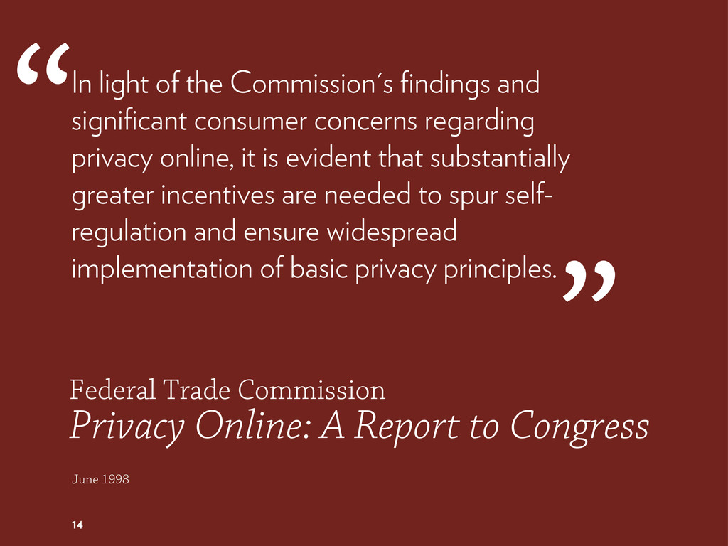 Federal Trade Commission Privacy Online: A Repo...