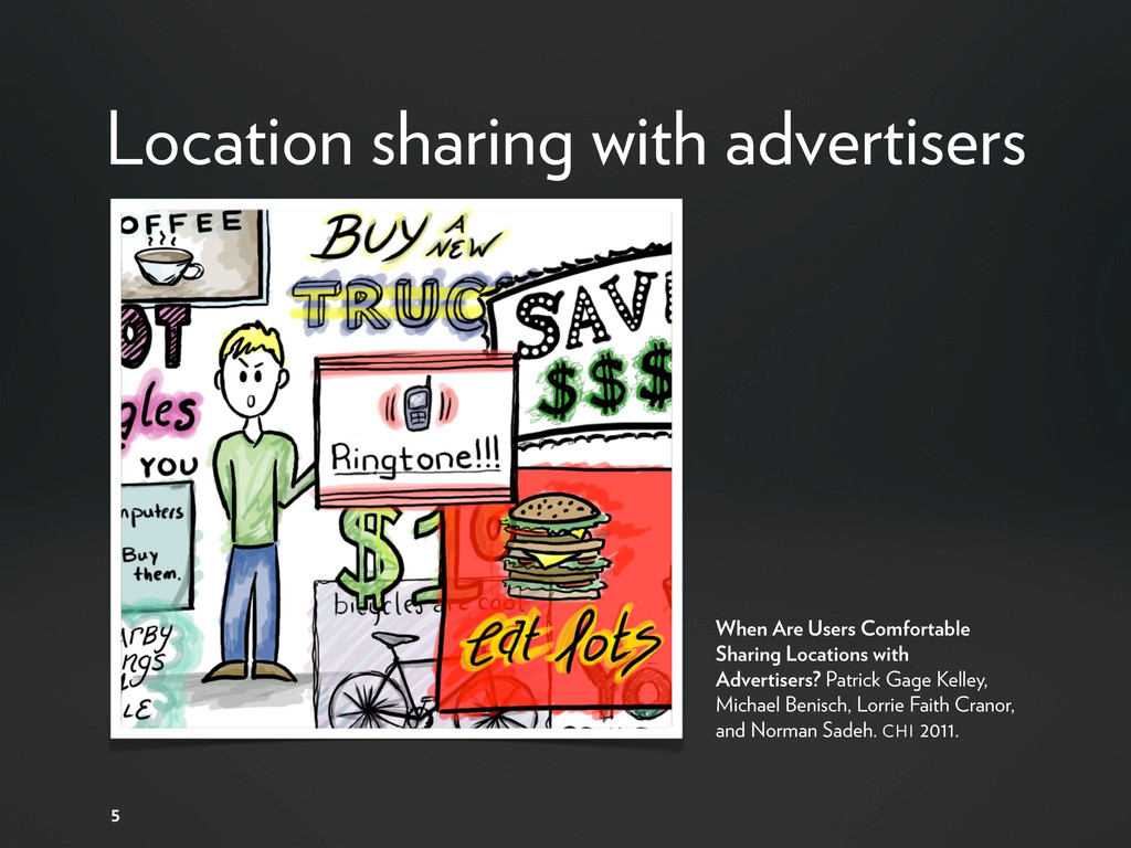 Location sharing with advertisers When Are User...