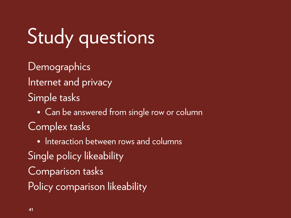 Study questions 41 Demographics Internet and pr...