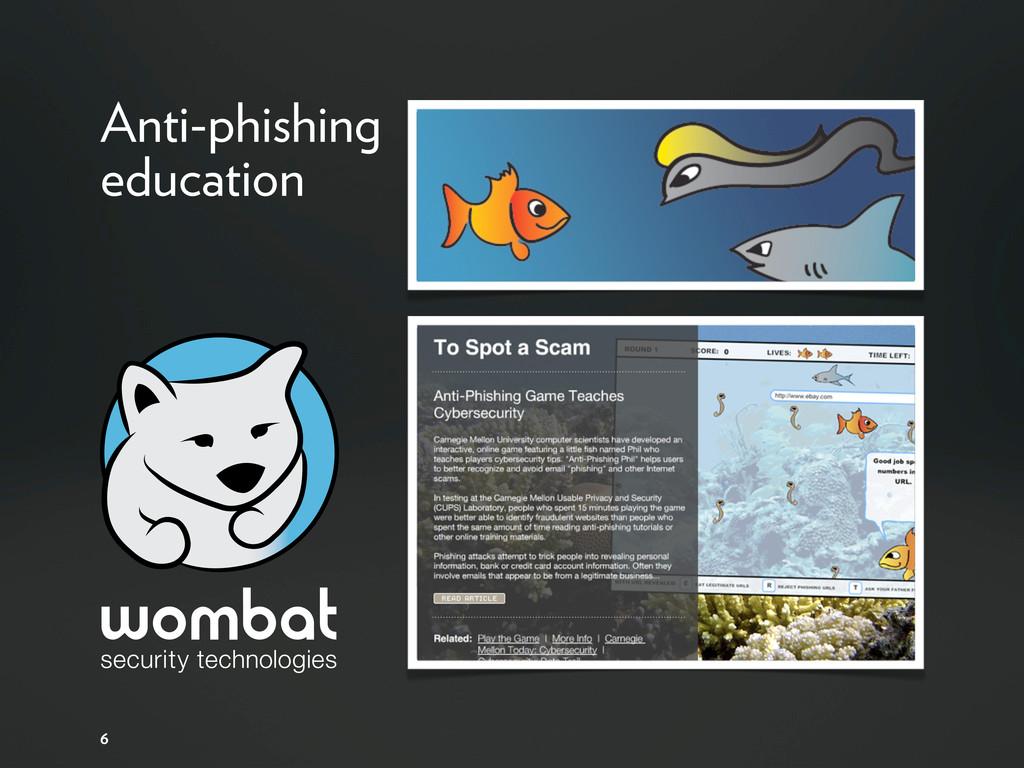 6 Anti-phishing education