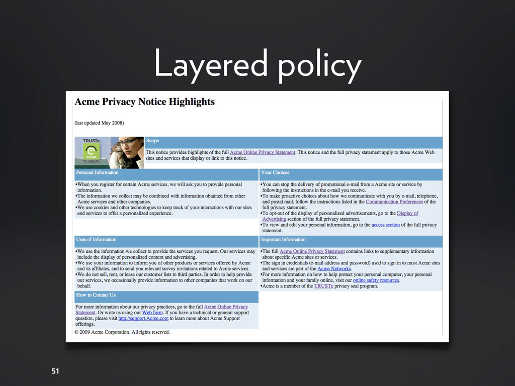 51 Layered policy
