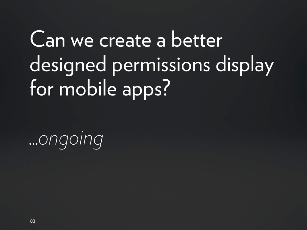 Can we create a better designed permissions dis...