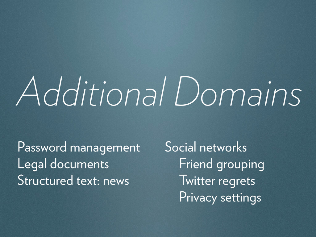 Additional Domains Password management Legal do...