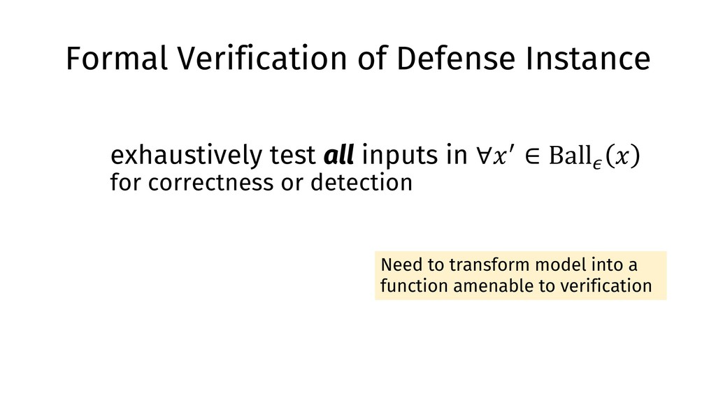 Formal Verification of Defense Instance exhaust...