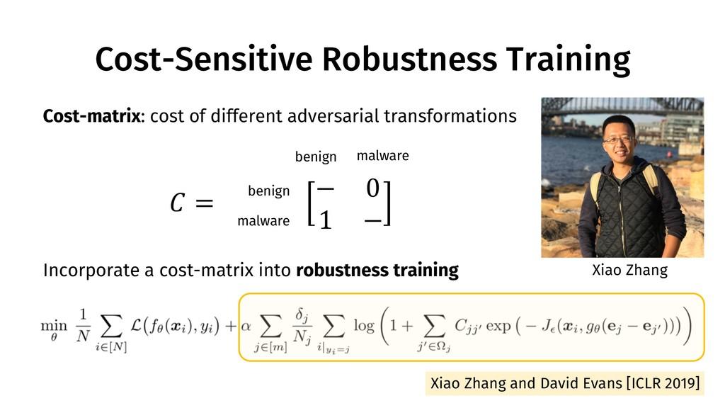 Cost-Sensitive Robustness Training 116 Xiao Zha...