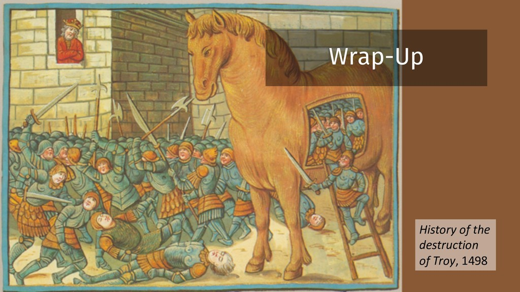 History of the destruction of Troy, 1498 Wrap-Up