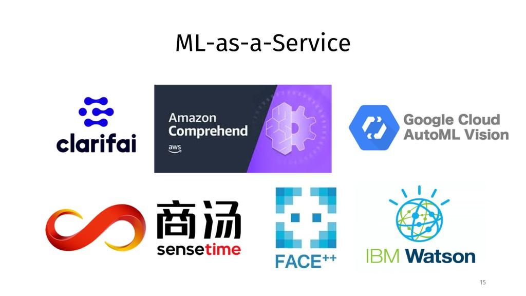 ML-as-a-Service 15