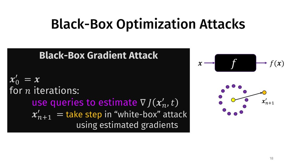 "Black-Box Optimization Attacks 18 ! "" !("") Blac..."