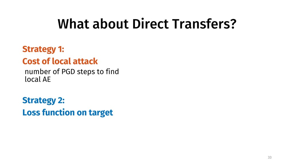 What about Direct Transfers? Strategy 1: Cost o...
