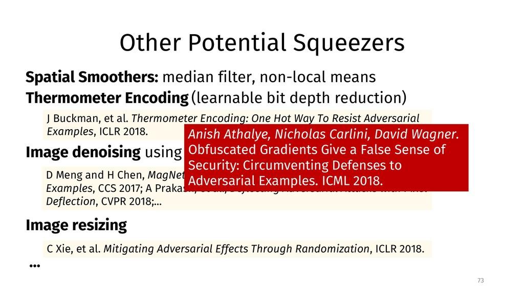 Other Potential Squeezers 73 C Xie, et al. Miti...
