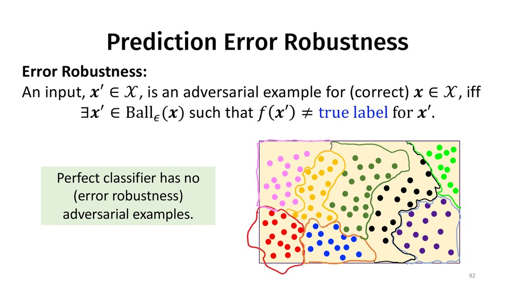 Prediction Error Robustness 92 Error Robustness...