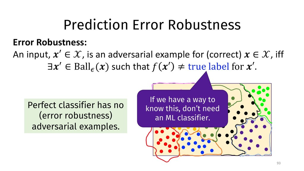 Prediction Error Robustness 93 Error Robustness...