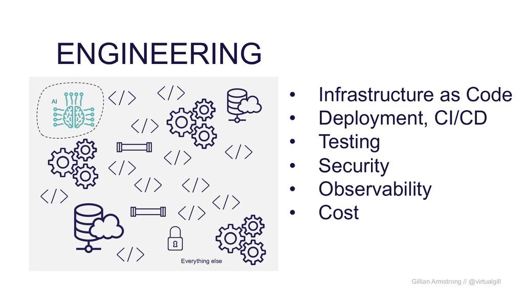 ENGINEERING Gillian Armstrong // @virtualgill A...