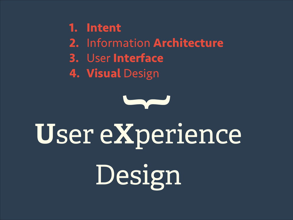 1. Intent 2. Information Architecture 3. User I...