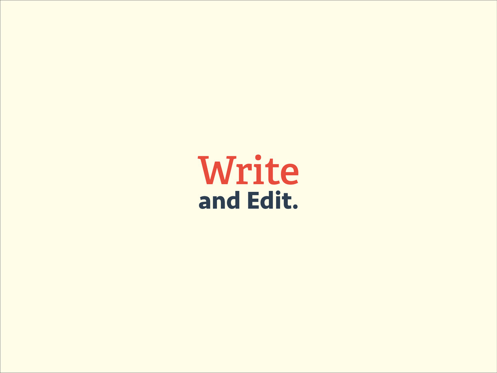 and Edit. Write