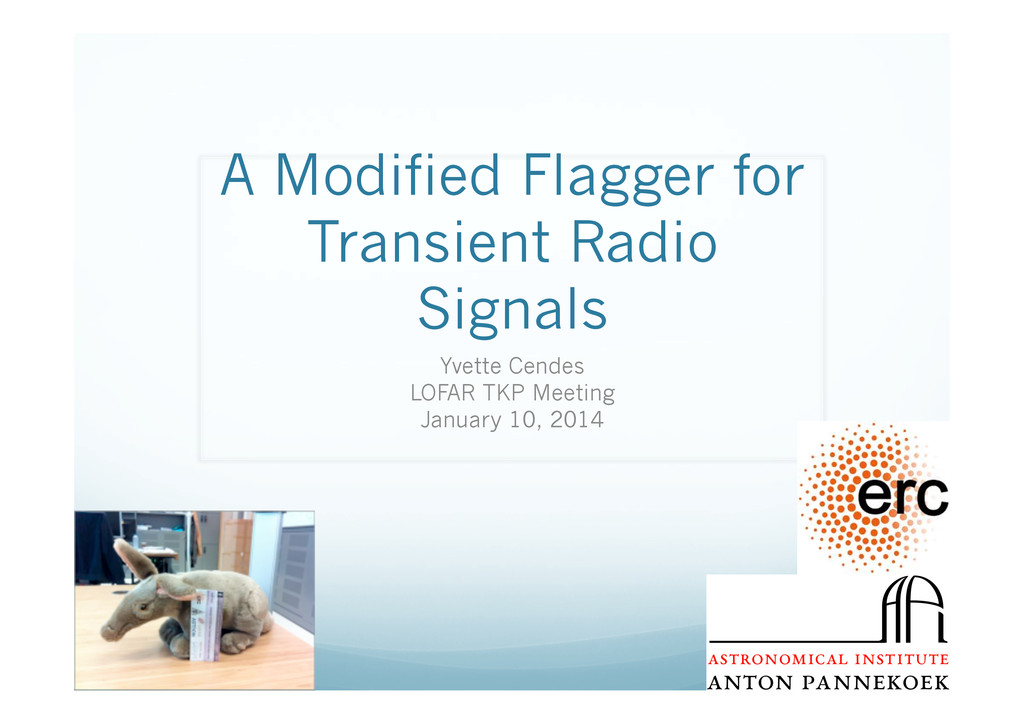 A Modified Flagger for Transient Radio Signals ...