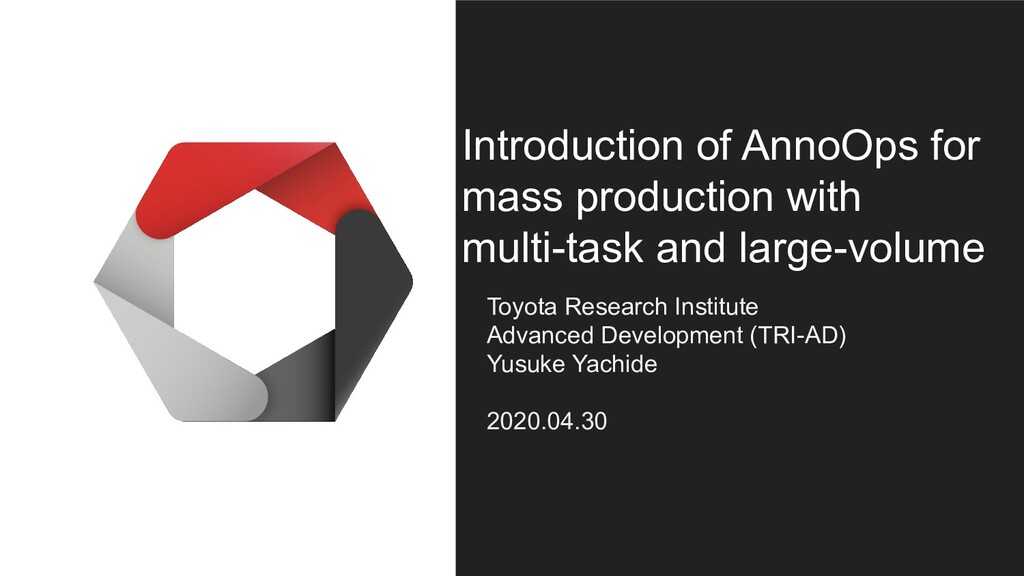 Introduction of AnnoOps for mass production wit...