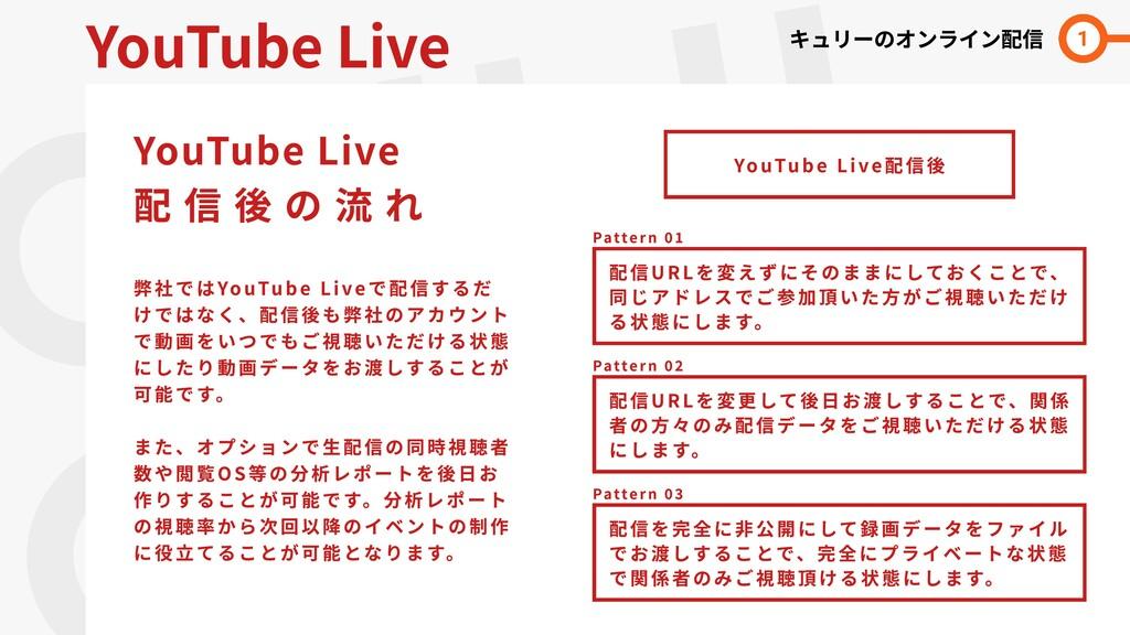 QULII  LINE YouTube Live YouTube Live  配 信 後 の ...
