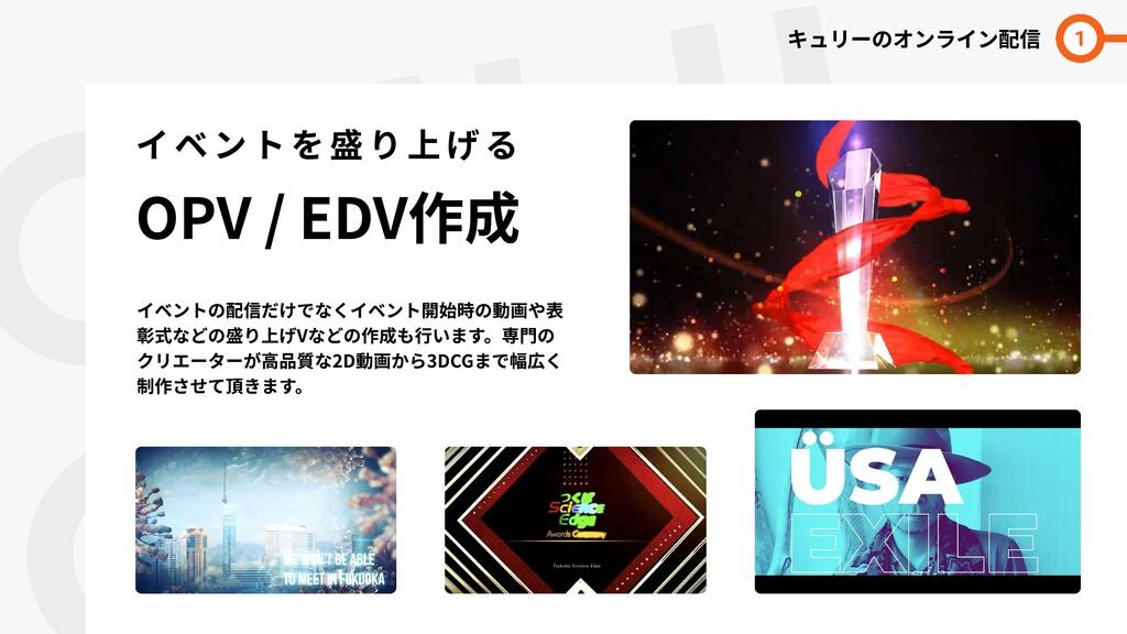 QULII  LINE イベントを盛り上げる  OPV / EDV作成 キュリーのオンライン配...