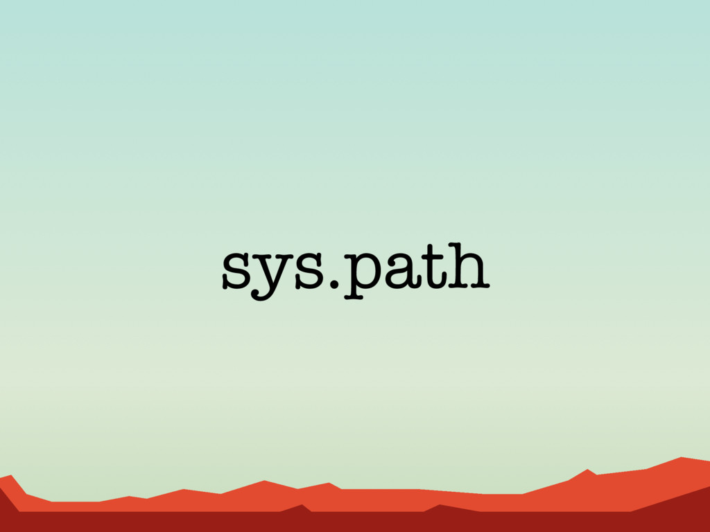 sys.path