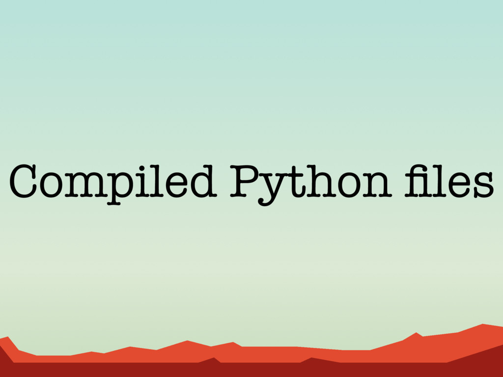 Compiled Python files