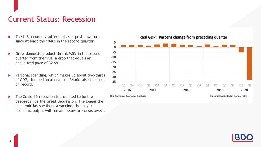 2 u The U.S. economy suffered its sharpest down...